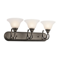 Kichler 5558OZ Stafford 3 Light 24 inch Olde Bronze Bath Vanity Wall Light photo thumbnail