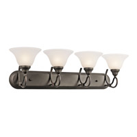 Kichler 5559OZ Stafford 4 Light 33 inch Olde Bronze Bath Vanity Wall Light