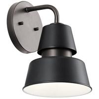 Kichler 59001BK Lozano 1 Light 10 inch Black Outdoor Wall Sconce Medium