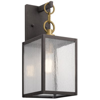 Kichler 59005WZC Lahden 1 Light 12 inch Weathered Zinc Outdoor Wall Sconce Small
