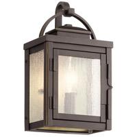 Kichler 59010RZ Carlson 1 Light 11 inch Rubbed Bronze Outdoor Wall Sconce Small