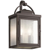 Kichler 59011RZ Carlson 2 Light 15 inch Rubbed Bronze Outdoor Wall Sconce Medium
