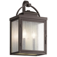 Kichler 59012RZ Carlson 2 Light 18 inch Rubbed Bronze Outdoor Wall Sconce Xlarge