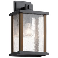 Kichler 59017BK Marimount 1 Light 13 inch Black Outdoor Wall, Medium photo thumbnail