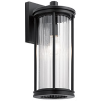Kichler 59023BK Barras 1 Light 16 inch Black Outdoor Wall Sconce Medium