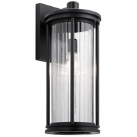 Kichler 59024BK Barras 1 Light 20 inch Black Outdoor Wall Sconce Large
