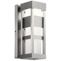 Kichler 59035BALED Ryler LED 12 inch Brushed Aluminum Outdoor Wall Sconce Small