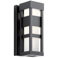Kichler 59035BKLED Ryler LED 12 inch Black Outdoor Wall Sconce Small