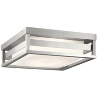 Kichler 59037BALED Ryler LED 12 inch Brushed Aluminum Outdoor Flush and Semi Flush Mount