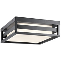 Kichler 59037BKLED Ryler LED 12 inch Black Outdoor Flush and Semi Flush Mount