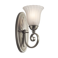 Kichler 5926NI Willowmore 1 Light 6 inch Brushed Nickel Wall Sconce Wall Light photo thumbnail