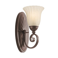 Kichler 5926TZ Willowmore 1 Light 6 inch Tannery Bronze Wall Sconce Wall Light