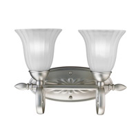 Kichler Lighting Willowmore 2 Light Bath Vanity in Brushed Nickel 5927NI