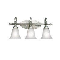 Kichler 5928NI Willowmore 3 Light 24 inch Brushed Nickel Bath Vanity Wall Light