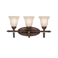 Willowmore 3 Light 24 inch Tannery Bronze Bath Vanity Wall Light