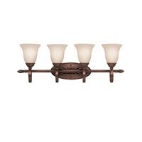 Willowmore 4 Light 32 inch Tannery Bronze Bath Vanity Wall Light