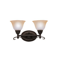 Kichler Lighting Pomeroy 2 Light Bath Vanity in Distressed Black 5972DBK photo thumbnail