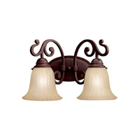 Kichler 5988CZ Wilton 2 Light 16 inch Carre Bronze Bath Vanity Wall Light