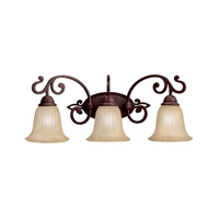 Wilton 3 Light 25 inch Carre Bronze Bath Vanity Wall Light