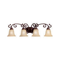 Kichler 5990CZ Wilton 4 Light 34 inch Carre Bronze Bath Vanity Wall Light