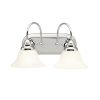 Kichler 5992CH Telford 2 Light 18 inch Chrome Bath Vanity Wall Light