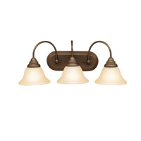 Telford 3 Light 25 inch Olde Bronze Bath Vanity Wall Light