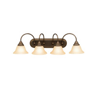 Telford 4 Light 33 inch Olde Bronze Bath Vanity Wall Light