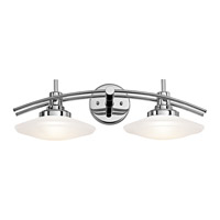 Kichler 6162CH Structures 2 Light 21 inch Chrome Bath Bracket Wall Light