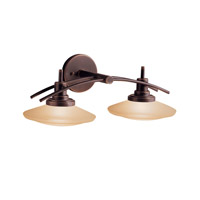 Structures 2 Light 21 inch Olde Bronze Bath Vanity Wall Light