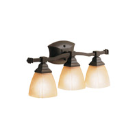 Kichler Lighting Sections 3 Light Bath Vanity in Olde Bronze 6408OZ photo thumbnail