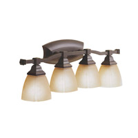 Kichler Lighting Sections 4 Light Bath Vanity in Olde Bronze 6409OZ photo thumbnail