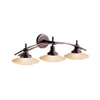 Kichler 6463OZ Structures 3 Light 30 inch Olde Bronze Bath Vanity Wall Light