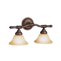 Kichler Lighting Broadview 2 Light Bath Vanity in Olde Bronze 6492OZ photo thumbnail