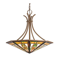 Kichler Lighting Steveston 6 Light Inverted Pendant in Dore Bronze 65054