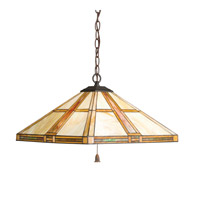 Kichler Lighting Art Glass 3 Light Pendant in Dore Bronze 65069 photo thumbnail