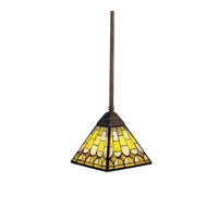 Kichler Lighting Pompeian Mosaics 1 Light Mini Pendant in Bronze 65172 photo thumbnail