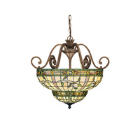 Kichler Lighting Elegante 3 Light Inverted Pendant in Bronze 65186 photo thumbnail