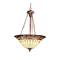 Kichler Lighting Dunsmuir 3 Light Inverted Pendant in Bronze 65187 photo thumbnail