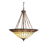 Kichler Lighting Dunsmuir 6 Light Inverted Pendant in Bronze 65188 photo thumbnail