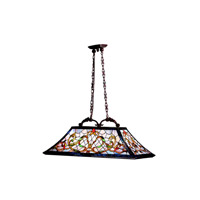 Kichler Lighting Walton Square 3 Light Island Light in Tannery Bronze w/ Gold Accent 65207 photo thumbnail