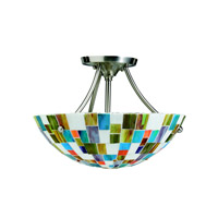 Kichler Lighting Confetti 2 Light Semi-Flush in Brushed Nickel 65215