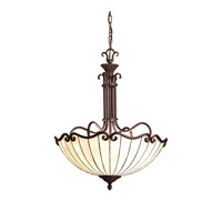 Kichler Lighting Clarice 3 Light Inverted Pendant in Tannery Bronze w/ Gold Accent 65217