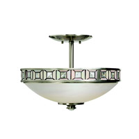 Kichler Lighting Montrose 3 Light Semi-Flush in Brushed Nickel 65218