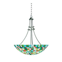 Kichler Lighting Confetti 3 Light Inverted Pendant in Brushed Nickel 65238