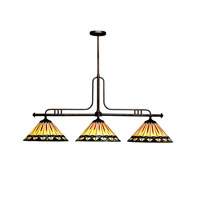 Kichler Lighting Yakima 3 Light Island Light in Tannery Bronze 65268