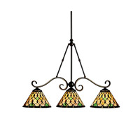 Kichler Lighting Woodbury 3 Light Island Light in Oiled Bronze 65274 photo thumbnail