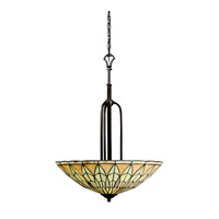 Kichler Lighting Piedra 4 Light Inverted Pendant in Olde Bronze 65294 photo thumbnail