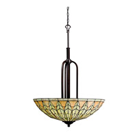 Kichler Lighting Piedra 5 Light Inverted Pendant in Olde Bronze 65295 photo thumbnail