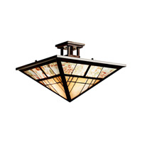 Kichler Lighting Prairie Ridge 2 Light Semi-Flush in Olde Bronze 65317