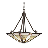 Kichler Lighting Denman 3 Light Inverted Pendant in Olde Bronze 65322